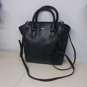 Coach Leather Crossbody Tote Bag